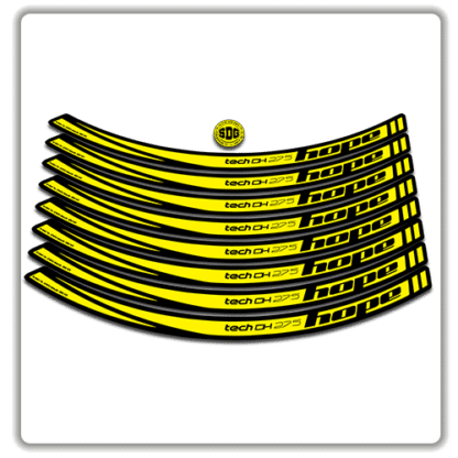 Yellow Hope Tech DH 27.5 Rim Stickers