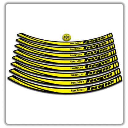 Yellow Hope Tech DH26 Rim Stickers