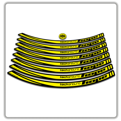 Yellow Hope Tech Enduro 26 Rim Stickers