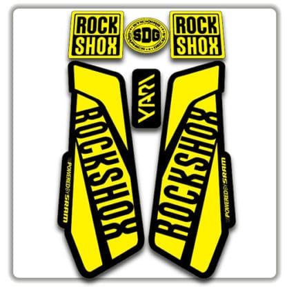 Yellow Rockshox Yari Fork Stickers 2017