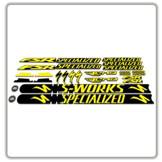 Yellow Specialized Demo 8 Frame Set Stickers