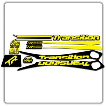 Yellow Transition TR500 Frame Set Stickers