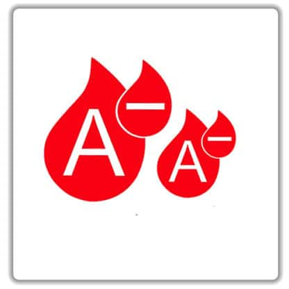 a negative blood type sticker