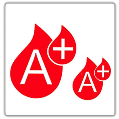 a positive blood type sticker