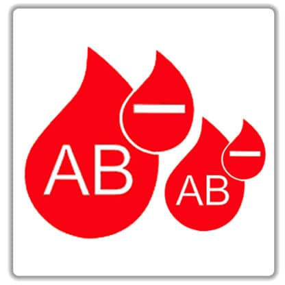ab negative blood type sticker