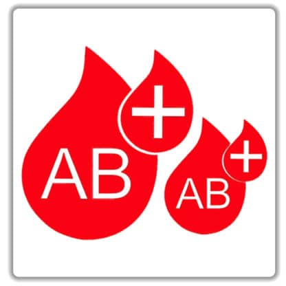 ab positive blood type stickers