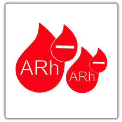 arh negative blood type sticker