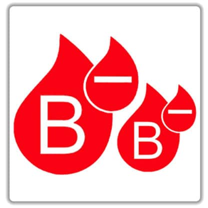 b negative blood type sticker
