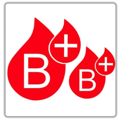 b positive blood type sticker