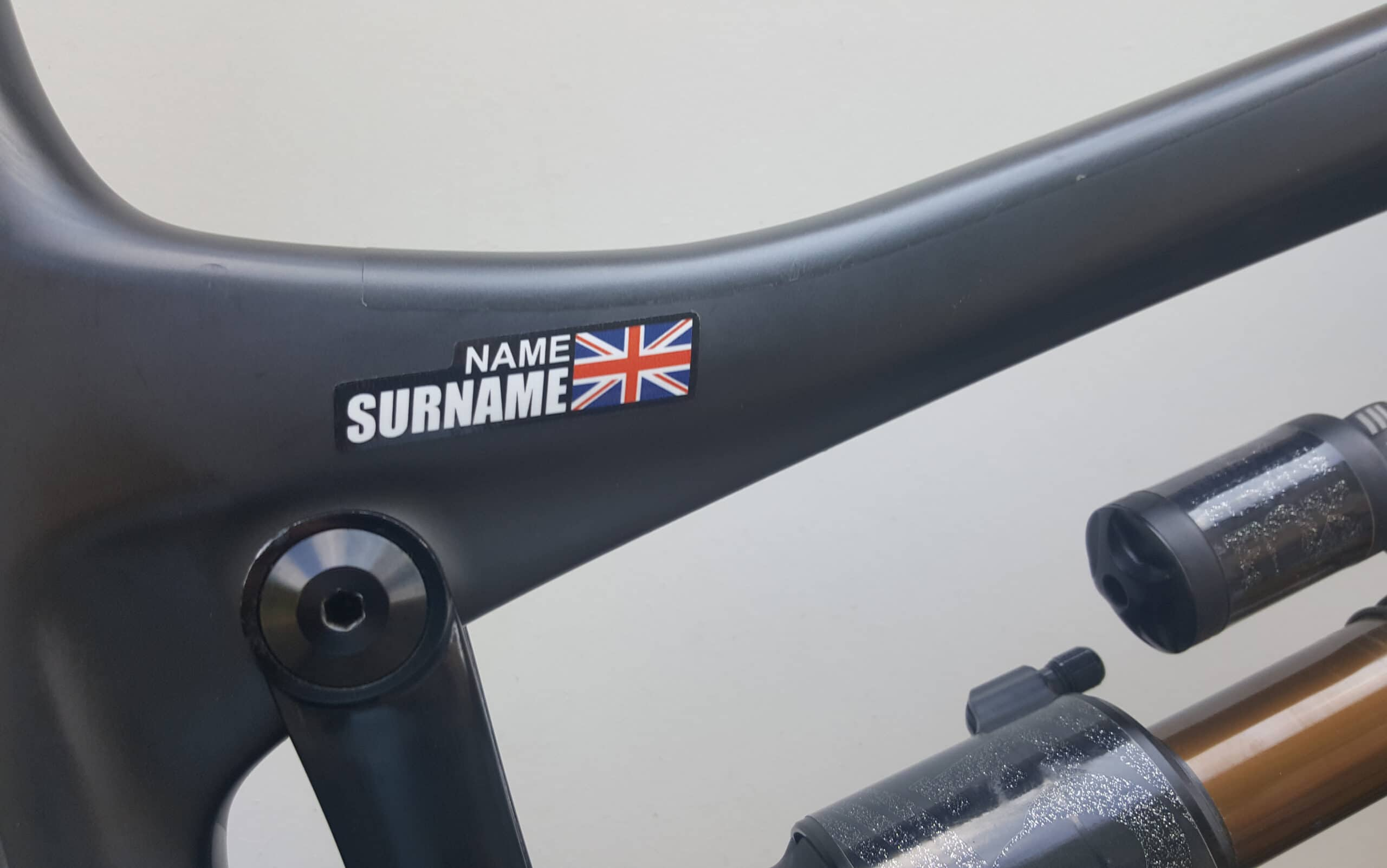 Bike Name Tag Stickers With Country Flag Stickers Decals