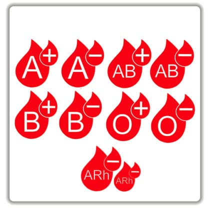 blood type stickers