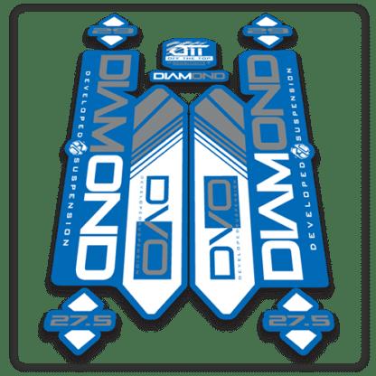 blue dvo diamond 27.5 fork stickers