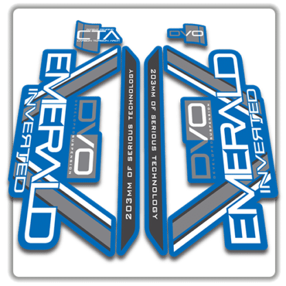 blue dvo emerald fork stickers