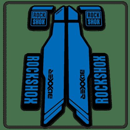 blue rockshox boxxer 2014 2015 fork stickers