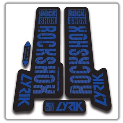 blue rockshox lyric fork stickers 2018