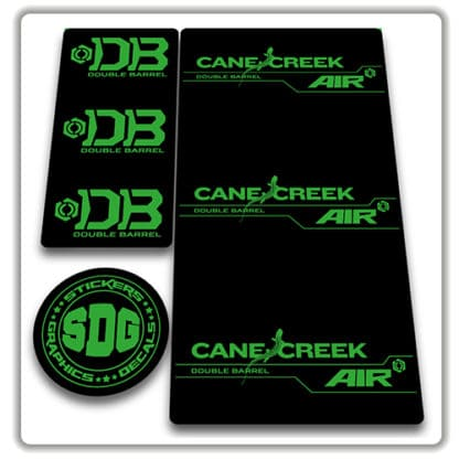 cane creek double barrel air rear shock stickers green