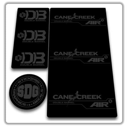 cane creek double barrel air rear shock stickers stealth