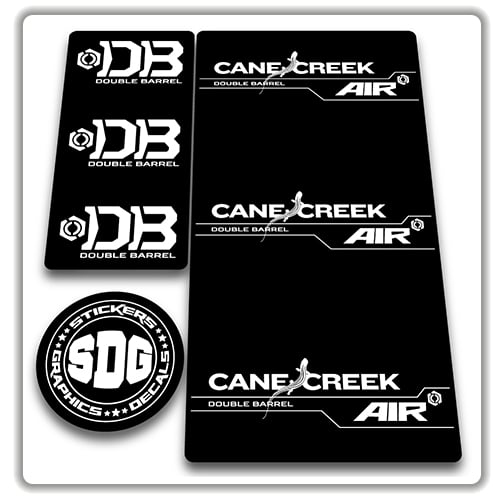 Cane Creek Large Black on clear sticker Decal