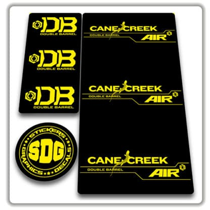 cane creek double barrel air rear shock stickers yellow