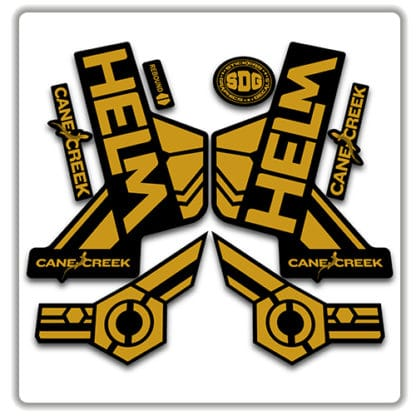 cane creek helm fork stickers gold