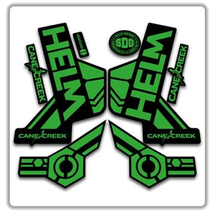 cane creek helm fork stickers green