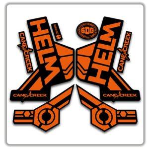 cane creek helm fork stickers orange