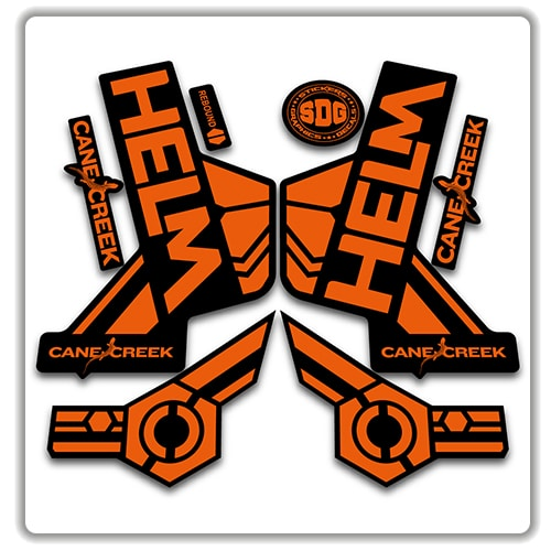 Cane Creek large white on clear Sticker Decal