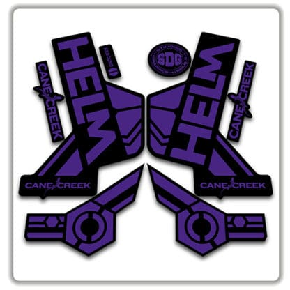 cane creek helm fork stickers purple