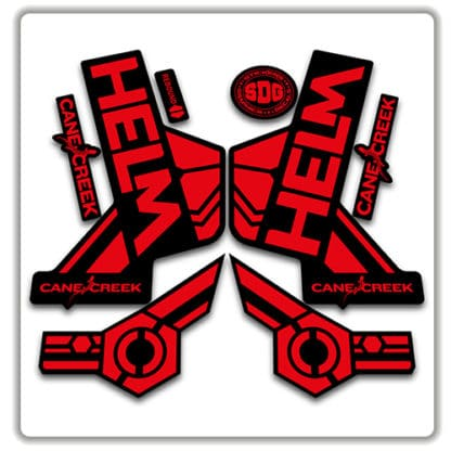 cane creek helm fork stickers red