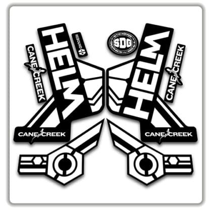 cane creek helm fork stickers white