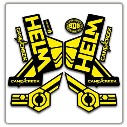 cane creek helm fork stickers yellow