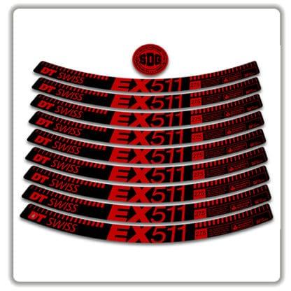 dt swiss EX 511 27.5 rim stickers