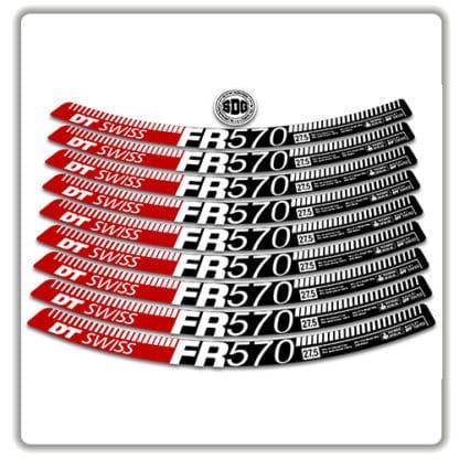 dt swiss FR 570 27.5 rim stickers