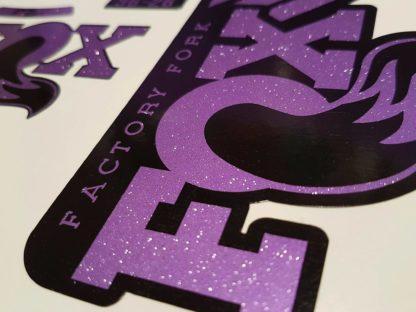 fox 36 heritage stickers decals glitter purple