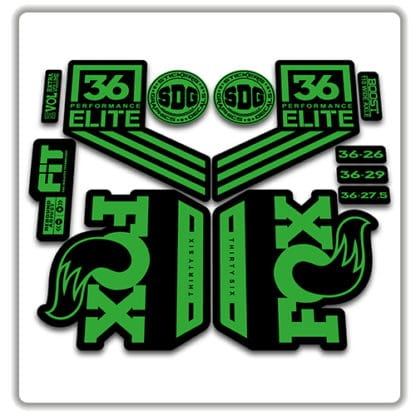 fox 36 performance elite 2018 fork stickers green