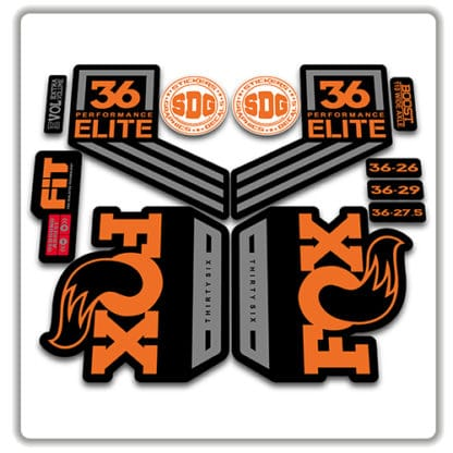 fox 36 performance elite 2018 fork stickers original