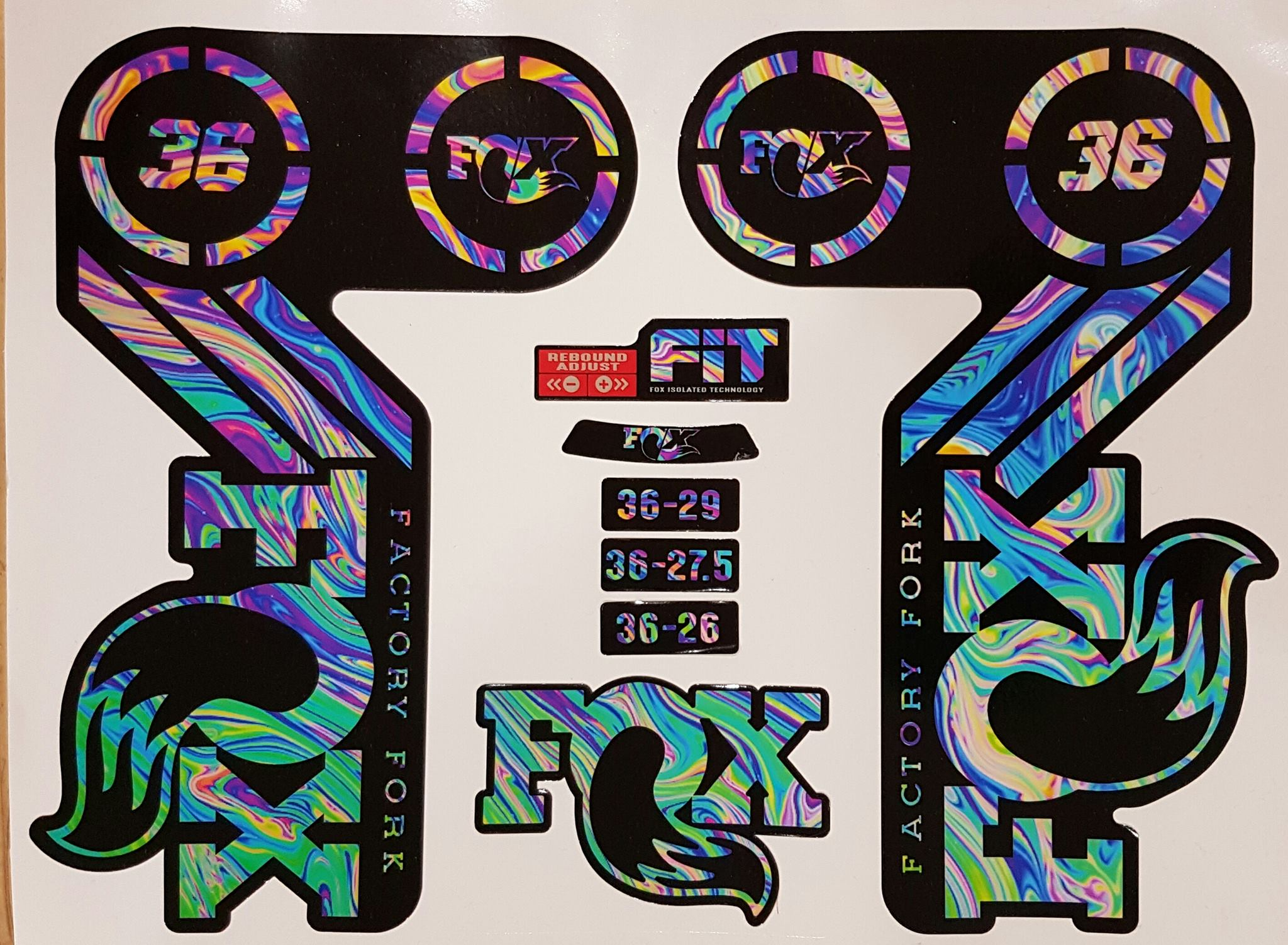 Fox 36 Heritage Replacement Fork Stickers Stickers
