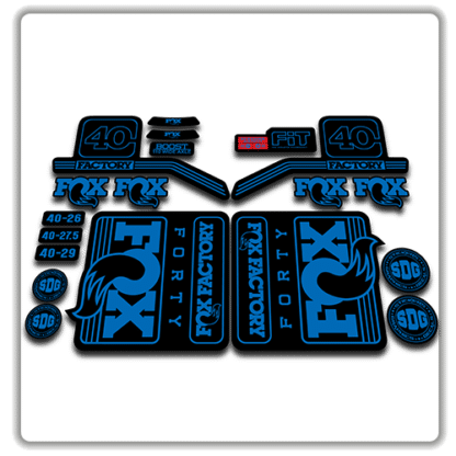 fox float 40 fork stickers 2016 2017 blue