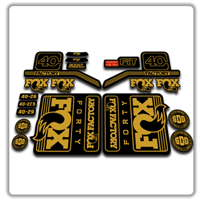 fox float 40 fork stickers 2016 2017 gold