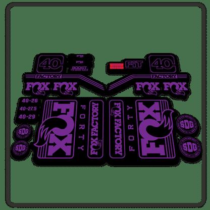 fox float 40 fork stickers 2016 2017 purple