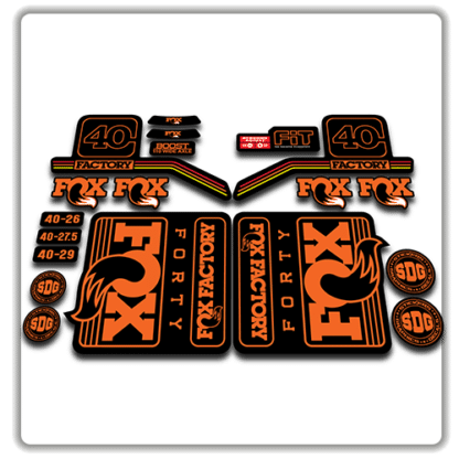 fox float 40 fork stickers 2016 2017 rainbow orange