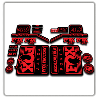 fox float 40 fork stickers 2016 2017 red