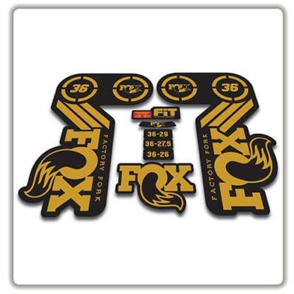 fox heritage 36 fork sticker in gold