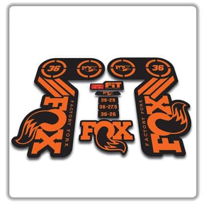 fox heritage 36 fork sticker in orange