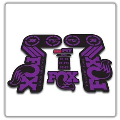 fox heritage 36 fork sticker in purple