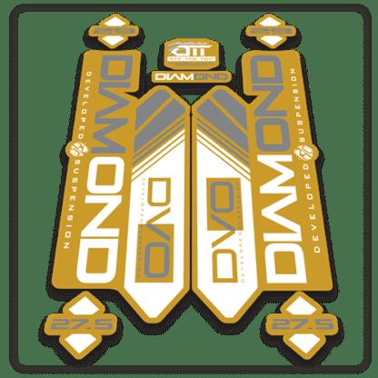 gold dvo diamond fork stickers
