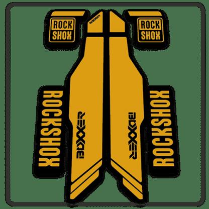 gold rockshox boxxer 2014 2015 fork stickers