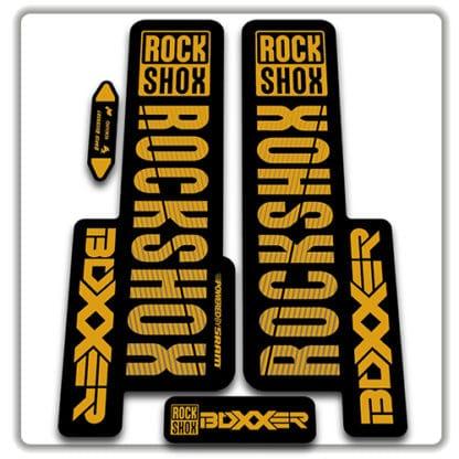gold rockshox boxxer 2018 fork stickers