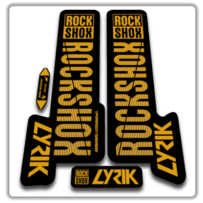 gold rockshox lyric fork stickers