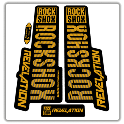 gold rockshox revelation fork stickers 2018